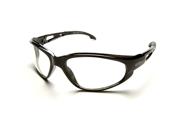 Edge SW111 Wolf Peak Dakura Wrap Around Safety Glasses, Black/Clear Lens