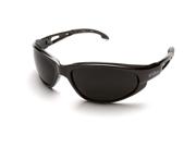 Edge SW116 Wolf Peak Dakura Wrap Around Safety Glasses, Black/Smoke Lens