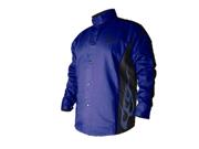 Revco BSX BXRB9C 9oz. Cotton Welding Jacket Blue/Black w/flames, 3X-Large