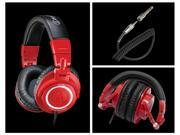 Audio Technica Red ATH-M50 Coiled Cable Headphones in Limited Edition Red