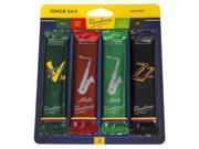 Vandoren SRMIXT3 Tenor Saxophone 3 Strength Jazz Reed Variety Pack