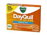 Vicks DayQuil Severe Cold Flu, 12 Caplets by Vicks