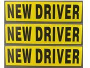 Set of 3 NEW DRIVER Magnet REFLECTIVE Magnetic Vehicle Car Sign
