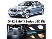 BMW 3 Series E90 E92 M3 2006-2012 White Interior LED Package (14 Pieces)