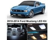 Ford MUSTANG 2010-2014 White Interior LED Package (5 Pieces)