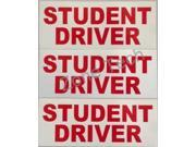 Zone Tech Red on White Student Driver Magnets - 3 Pack