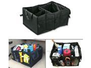 Zone Tech Multipurpose Cargo Trunk Storage Car Console Foldable Black Premium Quality Leakproof Heavy Duty Black Vehicle Organizer