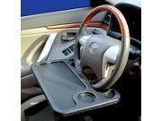 Zone Tech Car Laptop/Eating Steering Wheel Desk (Gray)