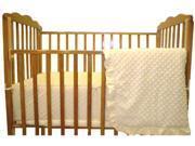 American Baby Company Heavenly Soft Minky Dot 3-Piece Porta-Crib Set, Ecru
