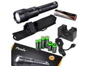 FENIX UC50 USB Rechargeable 900 Lumen Cree XM-L2 U2 LED Flashlight / Searchlight with USB Cradle & EdisonBright Battery