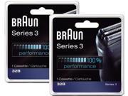 Braun 32B 5775761 2 Replacement Foil & Cutters Head Cassette NEW  2-Pack !