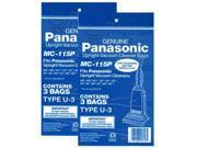Panasonic MC-115P (2-Pack) 3-Pack of Upright Vacuum Bags
