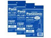 Panasonic MC-115P (3-Pack) 3-Pack of Upright Vacuum Bags