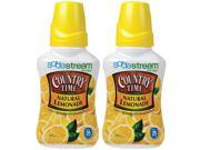 SodaStream Country Time Naturally Sweetened Lemonade Drink Concentrate Soda Mix Made W/ Pure Cane Sugar ( 2 Pack )
