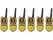 Motorola MS350R - 6 Pack Two Way Radio / Walkie Talkie Up To 35 Mile Range