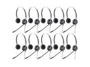 Jabra BIZ 2400 Duo IP Headset W/ Noise-Canceling Microphone (10-Pack)