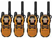 Motorola MT350R 4 Pack Power Boost Weather Proof Talkabout Two Way Radio 35 Mile