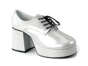 Silver 70s Disco Costume Mens Platform Shoe