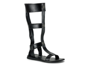Mens Roman Gladiator Costume Black Sandal Shoes