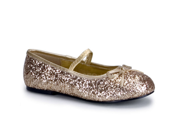 Kids Princess Costume Gold Glitter Ballet Flat Shoes