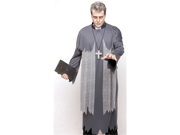 Mens Scary Zombie Ghost Priest Halloween Costume