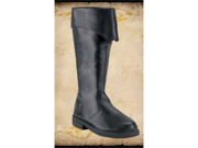 Mens Tall Black Pirate Renaissance Costume Boots