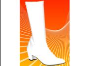 Kids Go White GoGo Girls Costume Knee High Boots