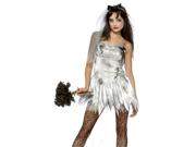 Sexy Zombie Bride Wedding Corpse Halloween Costume