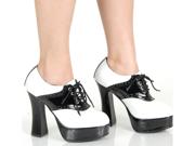 Adult 50's Saddle Shoes School Girl High Heel