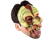 Scary Head Wound Diseased Mutant Costume Half Mask
