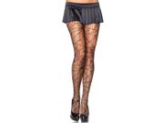 Sexy Black Distressed Mesh Spiderweb Stockings Tights