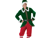 Santa Helper Elf Deluxe Velvet Adult Christmas Costume