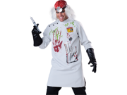 Mad Scientist Evil Doctor Adult Scary Halloween Costume Large