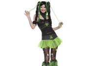 Sexy Neon Green Cyber Punk Anime Outfit Halloween Costume