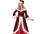 Mrs Santa Claus Deluxe Velvet Adult Christmas Costume