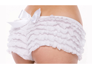 Sexy White Ruffle Spankies Panties Boy Shorts Panty