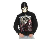 Grim Reaper Skeleton Skull Halloween Costume Hoodie