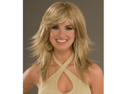 Sexy 70s Blonde Disco Party Girl Halloween Costume Wig