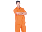Mens Prisoner Jail Inmate Convict Halloween Costume