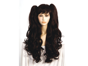 Long Brown Bangs Anime Cosplay Wavy Pigtail Japanese Fiber Wig