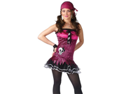 Girls Goth Skull Pirate Outfit TEEN Halloween Costume