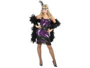 Sexy Purple Sequin Flapper Dress Halloween Costume