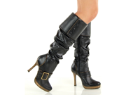 Sexy Steampunk Pirate Costume Buckle Boots