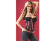 Sexy Black Pink Corset Top Bustier Clubwear Lingerie