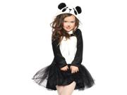 Girls Pretty Panda Costume