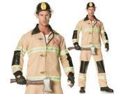 Adult Mens Tan Fireman Firefighter Halloween Costume
