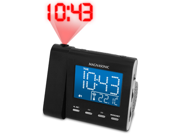 Magnasonic MAG-MM176K AM/FM Projection Clock Radio with Dual Alarm & Auto Time Set/Restore