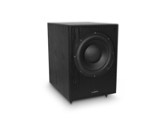 Fluance DB150 10 Inch 150 Watt Low Frequency Powered Subwoofer Black Ash Finish