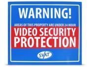 SVAT VU102-SGN INDOOR VIDEO SECURITY SYSTEM WARNING SIGN