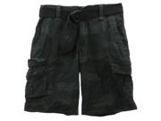 Aeropostale Mens Dark Camo Erngth Belted Casual Cargo Shorts 001 27
